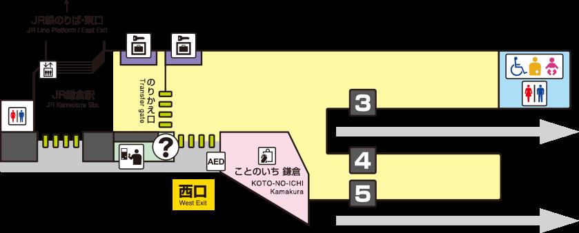 Kamakura Station Map KAMAKURA|STATION INFORMATION|TRAIN | Enoshima Electric Railway